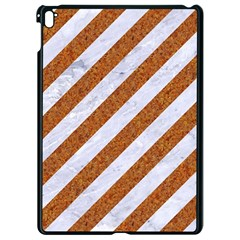 Stripes3 White Marble & Rusted Metal (r) Apple Ipad Pro 9 7   Black Seamless Case by trendistuff