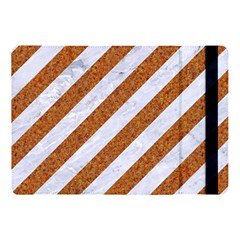 Stripes3 White Marble & Rusted Metal (r) Apple Ipad Pro 10 5   Flip Case by trendistuff
