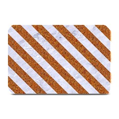 Stripes3 White Marble & Rusted Metal Plate Mats by trendistuff
