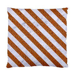Stripes3 White Marble & Rusted Metal Standard Cushion Case (two Sides) by trendistuff