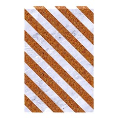 Stripes3 White Marble & Rusted Metal Shower Curtain 48  X 72  (small)  by trendistuff