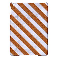 Stripes3 White Marble & Rusted Metal Ipad Air Hardshell Cases by trendistuff