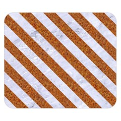 Stripes3 White Marble & Rusted Metal Double Sided Flano Blanket (small)  by trendistuff