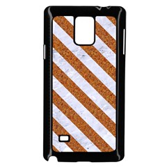 Stripes3 White Marble & Rusted Metal Samsung Galaxy Note 4 Case (black) by trendistuff