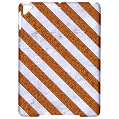 Stripes3 White Marble & Rusted Metal Apple Ipad Pro 9 7   Hardshell Case by trendistuff