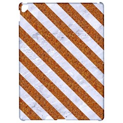 Stripes3 White Marble & Rusted Metal Apple Ipad Pro 12 9   Hardshell Case by trendistuff