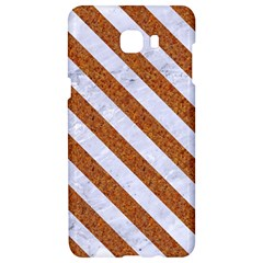 Stripes3 White Marble & Rusted Metal Samsung C9 Pro Hardshell Case  by trendistuff