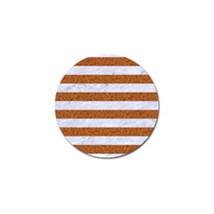 Stripes2white Marble & Rusted Metal Golf Ball Marker (10 Pack) by trendistuff