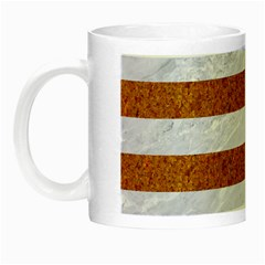 Stripes2white Marble & Rusted Metal Night Luminous Mugs by trendistuff