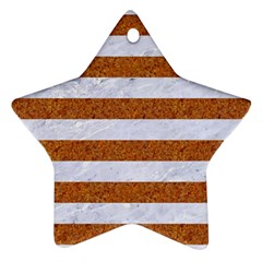 Stripes2white Marble & Rusted Metal Star Ornament (two Sides) by trendistuff