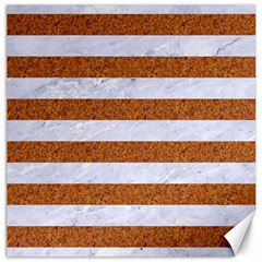Stripes2white Marble & Rusted Metal Canvas 16  X 16   by trendistuff