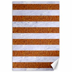 Stripes2white Marble & Rusted Metal Canvas 20  X 30   by trendistuff