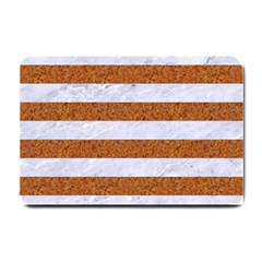 Stripes2white Marble & Rusted Metal Small Doormat  by trendistuff