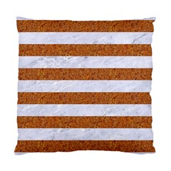 Stripes2white Marble & Rusted Metal Standard Cushion Case (two Sides) by trendistuff