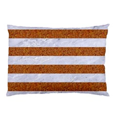 Stripes2white Marble & Rusted Metal Pillow Case by trendistuff