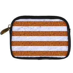 Stripes2white Marble & Rusted Metal Digital Camera Cases by trendistuff