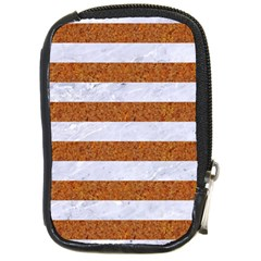 Stripes2white Marble & Rusted Metal Compact Camera Cases by trendistuff