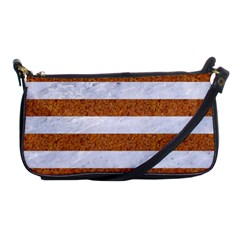 Stripes2white Marble & Rusted Metal Shoulder Clutch Bags by trendistuff