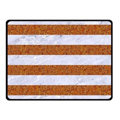 Stripes2white Marble & Rusted Metal Fleece Blanket (small) by trendistuff