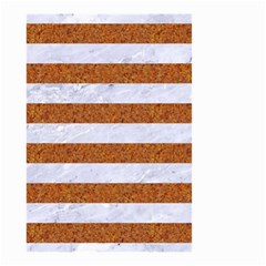Stripes2white Marble & Rusted Metal Small Garden Flag (two Sides) by trendistuff