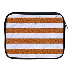 Stripes2white Marble & Rusted Metal Apple Ipad 2/3/4 Zipper Cases by trendistuff