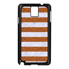 Stripes2white Marble & Rusted Metal Samsung Galaxy Note 3 N9005 Case (black) by trendistuff