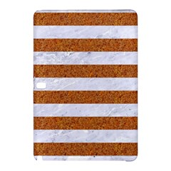 Stripes2white Marble & Rusted Metal Samsung Galaxy Tab Pro 12 2 Hardshell Case by trendistuff