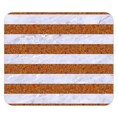 Stripes2white Marble & Rusted Metal Double Sided Flano Blanket (small)  by trendistuff