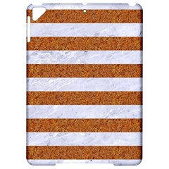 Stripes2white Marble & Rusted Metal Apple Ipad Pro 9 7   Hardshell Case by trendistuff