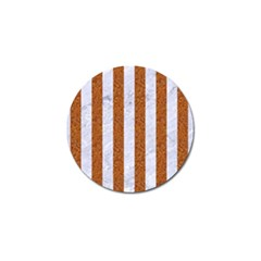 Stripes1 White Marble & Rusted Metal Golf Ball Marker (4 Pack) by trendistuff