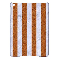 Stripes1 White Marble & Rusted Metal Ipad Air Hardshell Cases by trendistuff