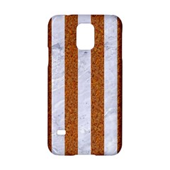 Stripes1 White Marble & Rusted Metal Samsung Galaxy S5 Hardshell Case  by trendistuff