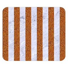 Stripes1 White Marble & Rusted Metal Double Sided Flano Blanket (small)  by trendistuff