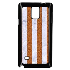 Stripes1 White Marble & Rusted Metal Samsung Galaxy Note 4 Case (black) by trendistuff