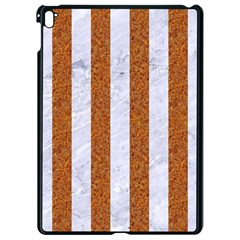 Stripes1 White Marble & Rusted Metal Apple Ipad Pro 9 7   Black Seamless Case by trendistuff