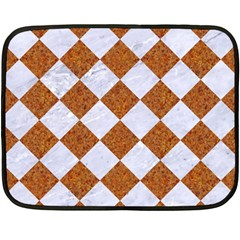 Square2 White Marble & Rusted Metal Fleece Blanket (mini) by trendistuff