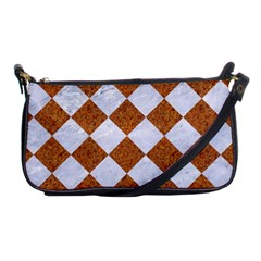 Square2 White Marble & Rusted Metal Shoulder Clutch Bags by trendistuff