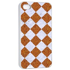 Square2 White Marble & Rusted Metal Apple Iphone 4/4s Seamless Case (white) by trendistuff