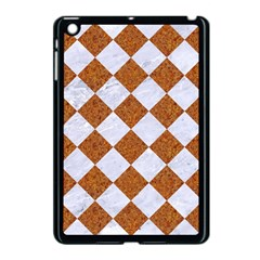 Square2 White Marble & Rusted Metal Apple Ipad Mini Case (black) by trendistuff