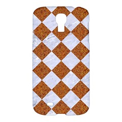 Square2 White Marble & Rusted Metal Samsung Galaxy S4 I9500/i9505 Hardshell Case by trendistuff