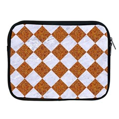 Square2 White Marble & Rusted Metal Apple Ipad 2/3/4 Zipper Cases by trendistuff