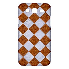 Square2 White Marble & Rusted Metal Samsung Galaxy Mega 5 8 I9152 Hardshell Case  by trendistuff