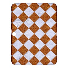 Square2 White Marble & Rusted Metal Samsung Galaxy Tab 3 (10 1 ) P5200 Hardshell Case  by trendistuff