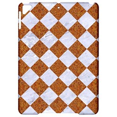 Square2 White Marble & Rusted Metal Apple Ipad Pro 9 7   Hardshell Case by trendistuff
