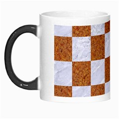 Square1 White Marble & Rusted Metal Morph Mugs by trendistuff