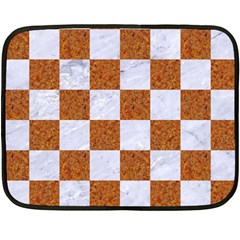 Square1 White Marble & Rusted Metal Fleece Blanket (mini) by trendistuff