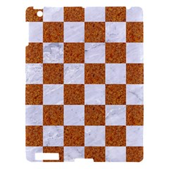 Square1 White Marble & Rusted Metal Apple Ipad 3/4 Hardshell Case by trendistuff