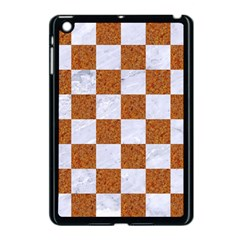 Square1 White Marble & Rusted Metal Apple Ipad Mini Case (black) by trendistuff