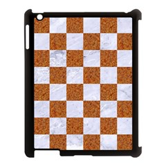 Square1 White Marble & Rusted Metal Apple Ipad 3/4 Case (black) by trendistuff