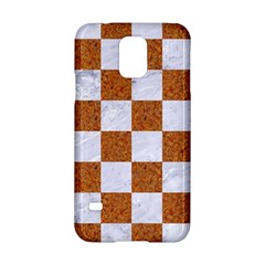 Square1 White Marble & Rusted Metal Samsung Galaxy S5 Hardshell Case  by trendistuff